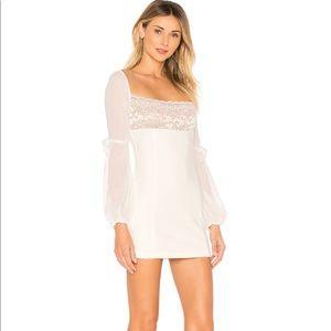 MAJORELLE Lilou Dress - white lace mini - NWT XS